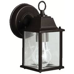 Kichler Outdoor Wall Light with Clear Glass in Black Finish