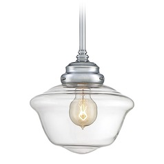 Savoy House Lighting School House Polished Chrome Mini-Pendant Light