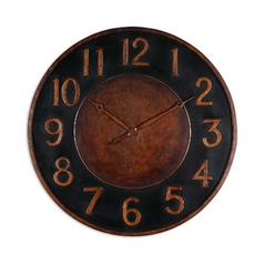 Clock in Golden Bronze Finish