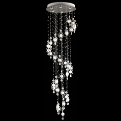 Lite Source Lighting Bubbles Nickel Pendant Light