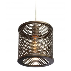 Lit-Mesh Test Stamped Steel Mini-Pendant Light