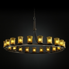 Justice Design Veneto Luce 21-Light Chandelier in Dark Bronze