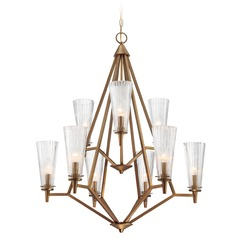 Designers Fountain Montelena Old Satin Brass Chandelier