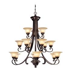 Dolan Designs 3-Tier 15-Light Chandelier in Deep Bronze