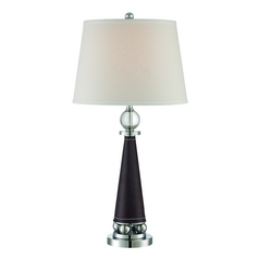 Lite Source Lighting Talia Chrome Table Lamp with Drum Shade