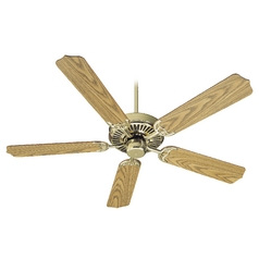 Quorum Lighting Capri I Polished Brass Ceiling Fan Without Light