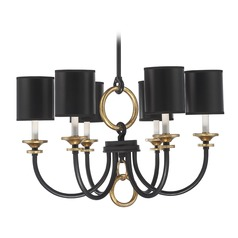 Savoy House Lighting Parkdale Matte Black W/ Gold Hi-Lts Chandelier