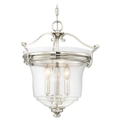Minka Audrey's Point Polished Nickel Pendant Light with Bell Shade
