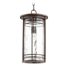 Quorum Lighting Larson Oiled Bronze Outdoor Hanging Light