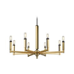 Mid-Century Modern Chandelier Brass / Oil Rubbed Bronze  Mandeville by Elk Lighting