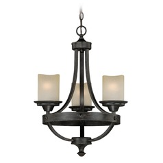 Halifax Black Walnut Mini-Chandelier by Vaxcel Lighting