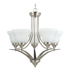 Sea Gull Lighting Brockton Brushed Nickel LED Chandelier