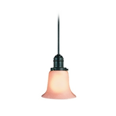 Hudson Valley Lighting Mini-Pendant Light with Amber Glass 3101-OB-116