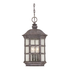 Minka Lighting Outdoor Hanging Light with Clear Glass in Dark Sienna Finish 9274-277