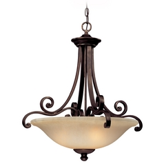 Dolan Designs Lighting Three-Light Pendant with Decorative Scrolls 1084-207