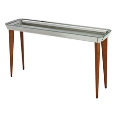 Sterling Lighting Bright Chestnut / Mirror Sofa Table