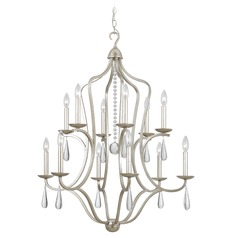 Crystorama Lighting Manning Silver Leaf Crystal Chandelier