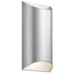 Kichler Lighting Wesly Platinum LED Outdoor Wall Light