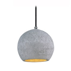Maxim Lighting Crete Polished Chrome LED Mini-Pendant Light with Bowl / Dome Shade