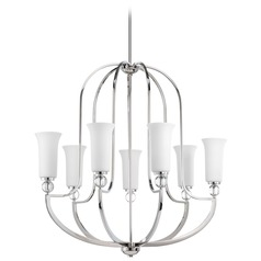 Progress Lighting Elina Polished Nickel Chandelier