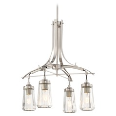 Minka Poleis Brushed Nickel Chandelier