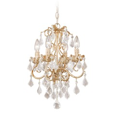 Newcastle Gilded White Gold Mini-Chandelier by Vaxcel Lighting