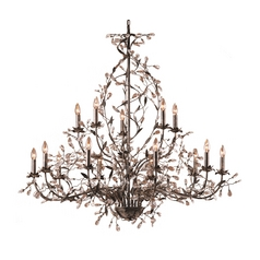 Chandelier in Deep Rust Finish