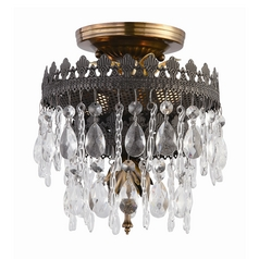 Crystal Semi-Flushmount Light in Fiesta Finish