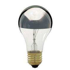 Satco Products, Inc. 60-Watt A19 Silver Bowl Incandescent Bulb 60A/SILVER BOWL