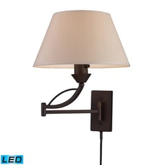 Elk Lighting Elysburg Aged Bronze LED Swing Arm Lamp