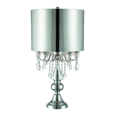 Lite Source Lighting Lavache Chrome Table Lamp with Drum Shade