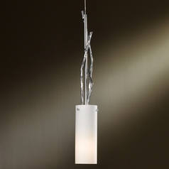Hubbardton Forge Lighting Brindille Vintage Platinum Mini-Pendant Light with Cylindrical Shade