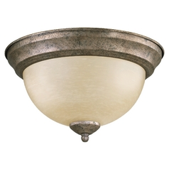 Quorum Lighting Mystic Silver Flushmount Light