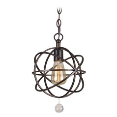 Crystorama Lighting Solaris English Bronze Mini-Pendant Light