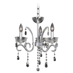 Allegri Catalani 3-Light Chandelier in Chrome