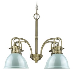 Golden Lighting Duncan Ab Aged Brass Chandelier