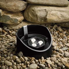 Modern LED In-Ground Well Light in Textured Black Finish