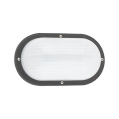 Energy Star Rated Black Oval Bulkhead Marine Light