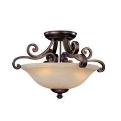 Three-Light Semi-Flush Ceiling Light
