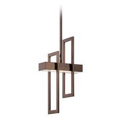 Modern LED Mini-Pendant Light in Hazel Bronze Finish