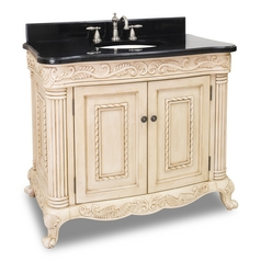 Bathroom Vanity in Antique White Finish - Pre Assembled Top and Bowl
