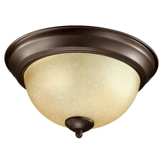 Quorum Lighting Oiled Bronze Flushmount Light