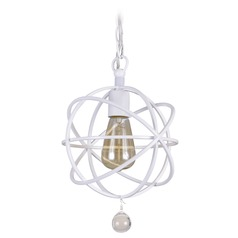 Crystorama Lighting Solaris Wet White Mini-Pendant Light