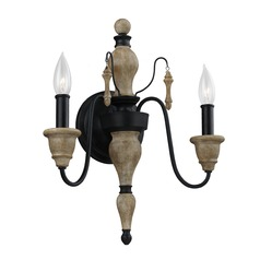 Feiss Lighting Matrimonio Driftwood / Dark Weathered Zinc Sconce