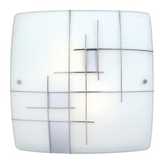 Eglo Raya 1 Chrome Flushmount Light