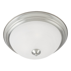 Maxim Lighting Essentials Satin Nickel Flushmount Light