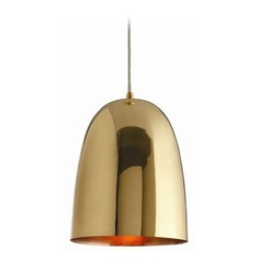 Arteriors Home Lighting 46603 Savoy Brass Dome Pendant Light