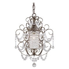 Minka Lighting Single-Light Crystal Mini-Chandelier 3121-333
