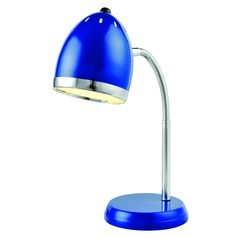 Lite Source Lighting Zachary Blue / Chrome Desk Lamp