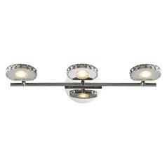 Modern LED Bathroom Light in Polished Chrome Finish